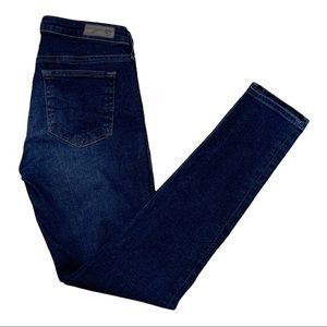 AG The Midi Ankle Mid Rise Jeans Blue Size 25